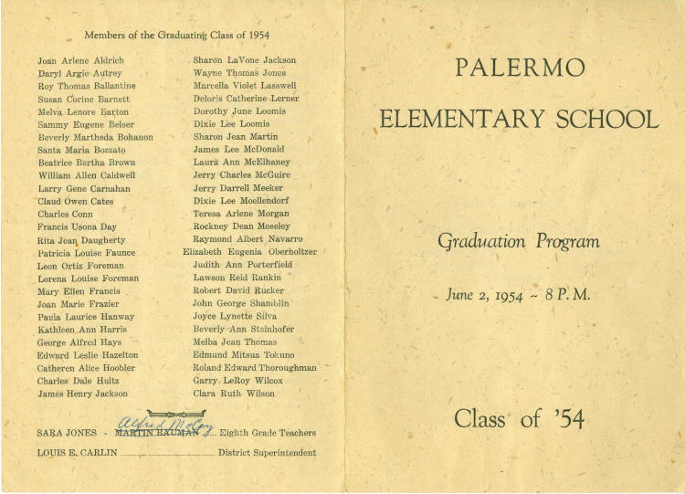 Palermo 8Th Grade Graduation Program