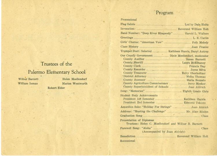 Palermo Th Grade Graduation Program